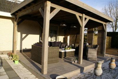 Terrassen Veranda tuinen groter dan 500 m met veranda prieel en andere elementen