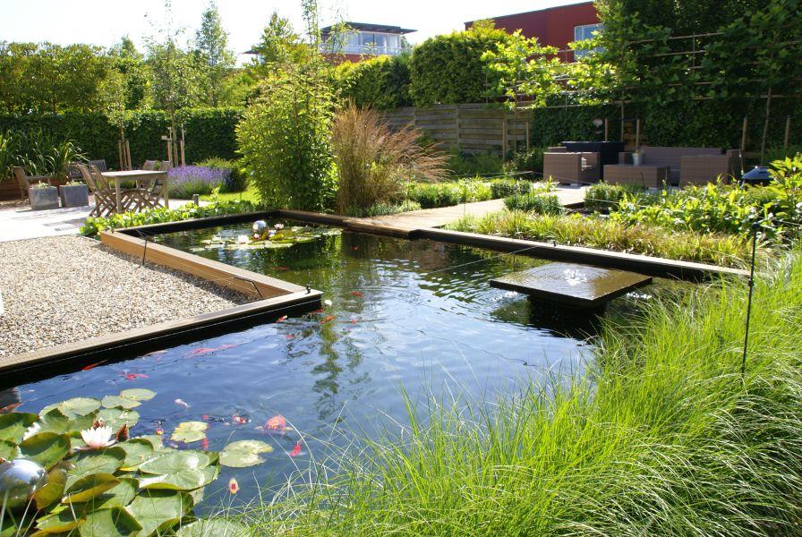 Vijver ontwerp tot aanleg ronde strakke natuurlijke vorm for Vijver voor kleine tuin